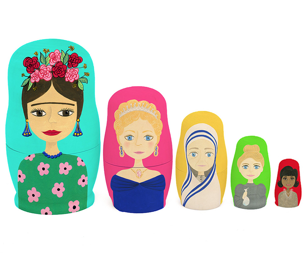 Inspirational Women Nesting Dolls