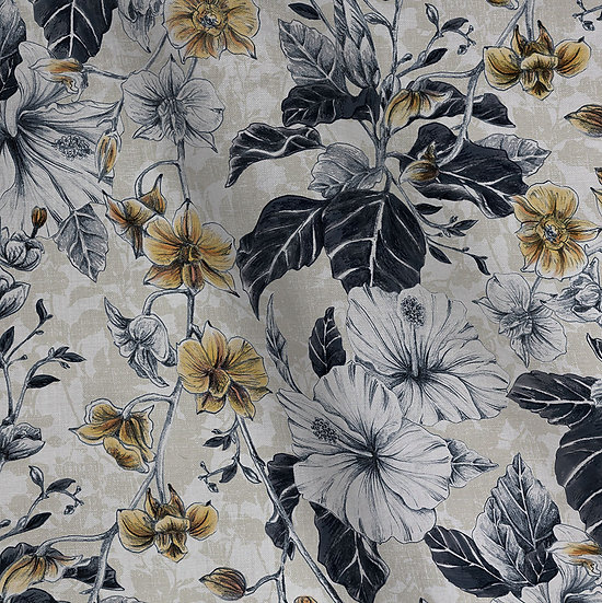 Wholesale - Hearts of Gold Linen Cotton Fabric