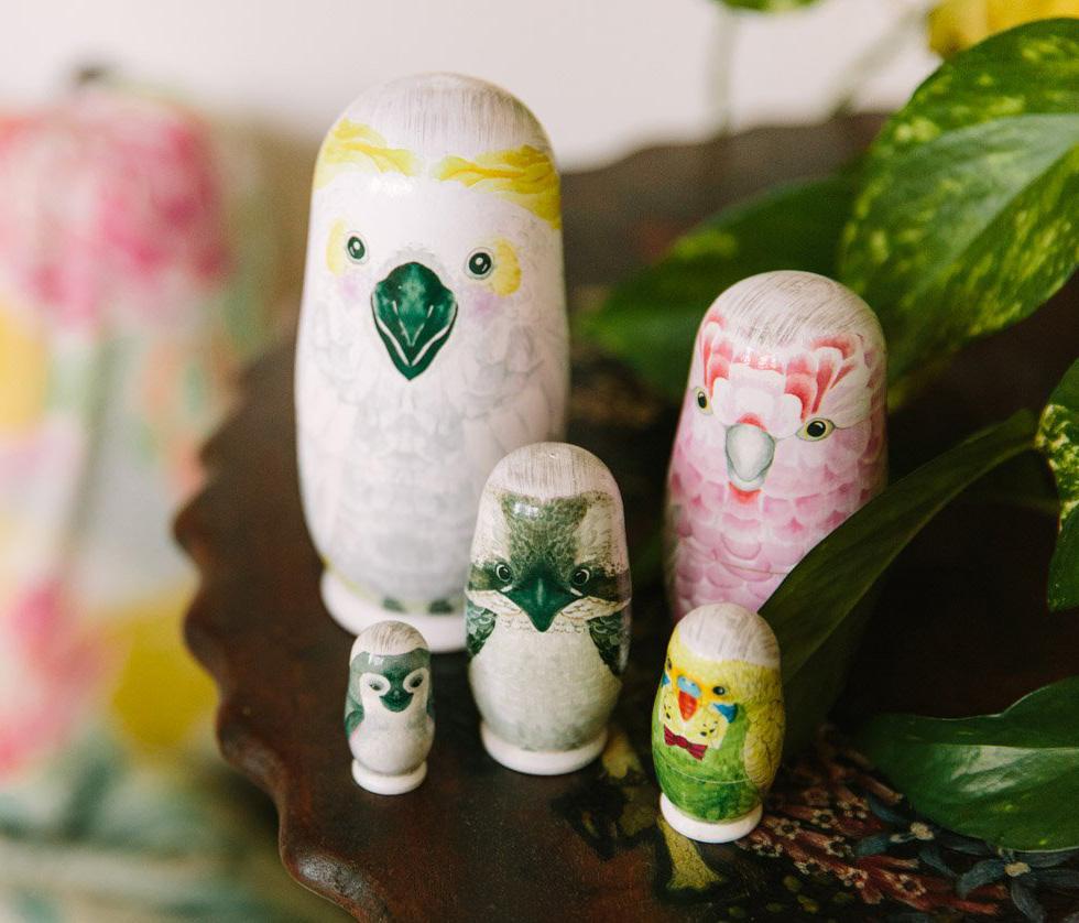 Australian Birds Nesting Dolls