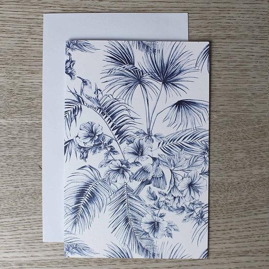 Tahiti Toile - Single Premium Card & Envelope