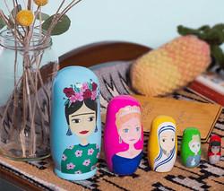 Inspirational Women Nesting Dolls