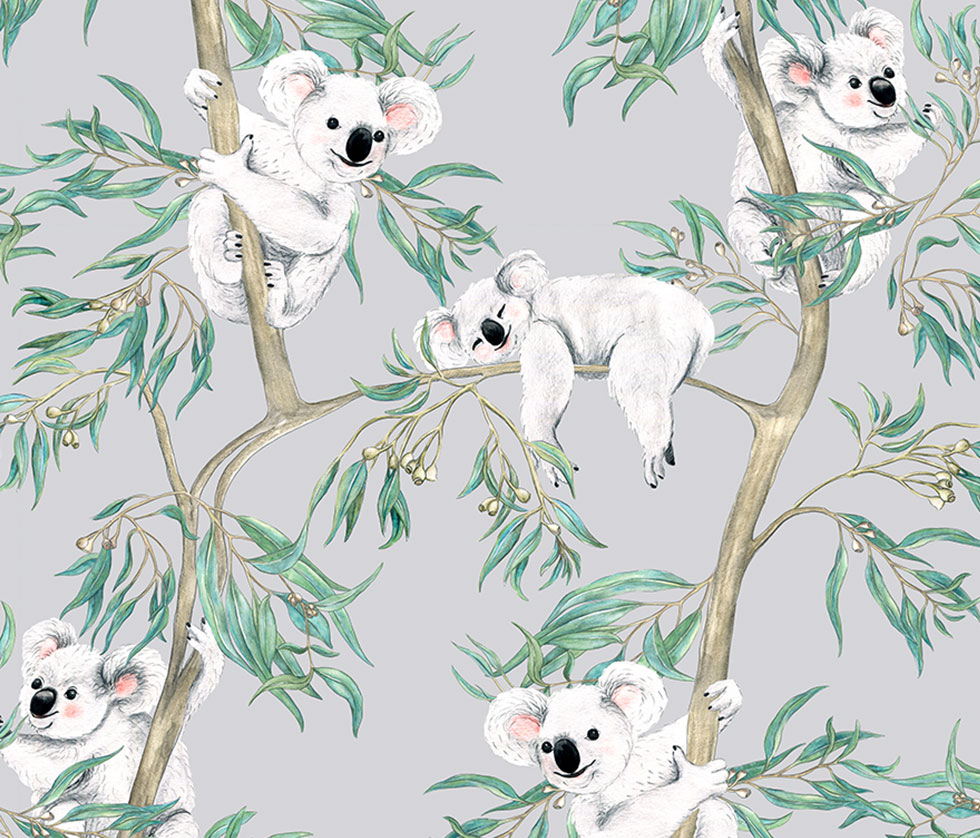 Koalas in the Trees - Grey