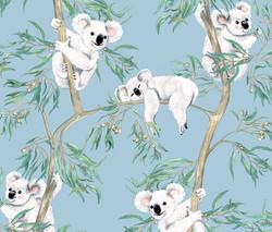 Koalas in the Trees - Sky Blue