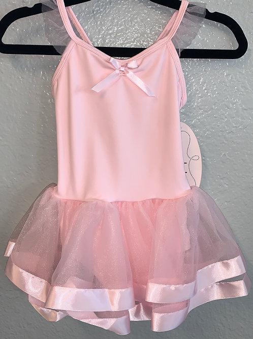 Girls Flutter Sleeve Dance Dress