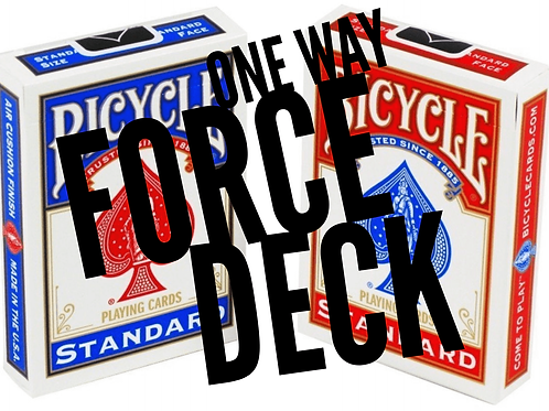 ONE WAY FORCE DECK - RED SPADES/CLUBS