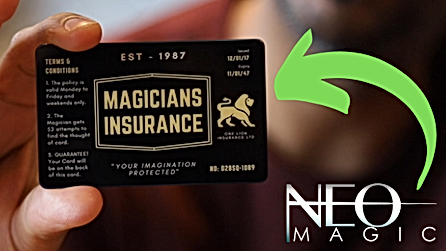 Magicians Insurance Card magic trick by Neo Magic and Vinny Sagoo