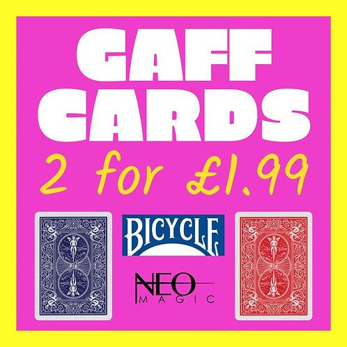 GAFF CARDS X 2