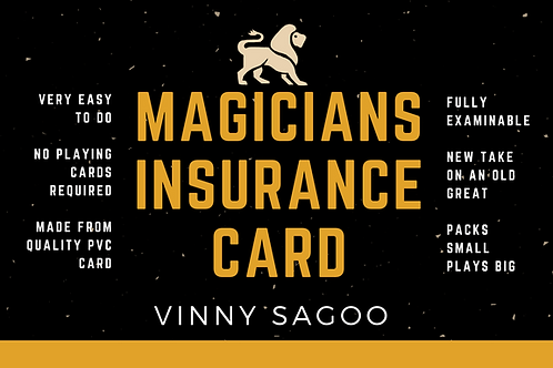 MAGICIANS INSURANCE CARD