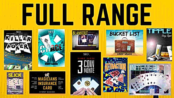 Full Range of Magic Tricks by Vinny Sago