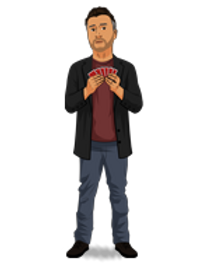 Vinny Sagoo as a cartoon