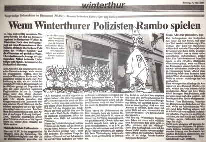 """Wenn Winterthurer Polizisten Rambo spielen"""