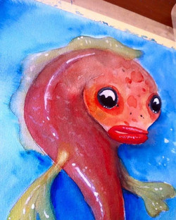 #redfish #aquarelle #paintings #fish