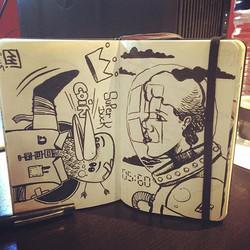 #pinguin #pingouin #cosmonaut #spationaute #mars #sketchbook #drawing #moleskine #maxrey