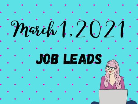 Job Leads - Monday