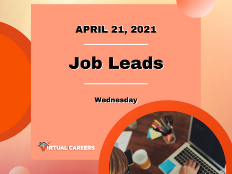Job Leads - Wednesday