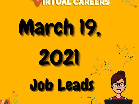 Job Leads - Friday