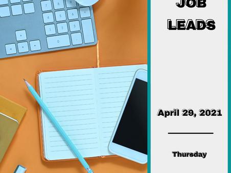 Job Leads - Thursday