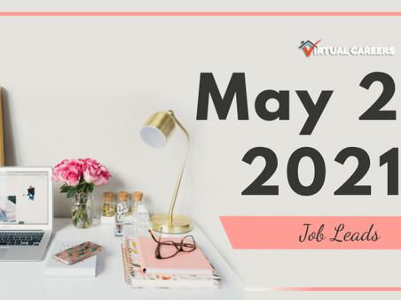 Thursday - May 20, 2021