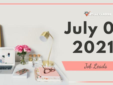 Thursday - July 01, 2021