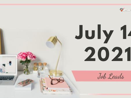 Wednesday - July 14, 2021