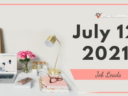 Monday - July 12, 2021