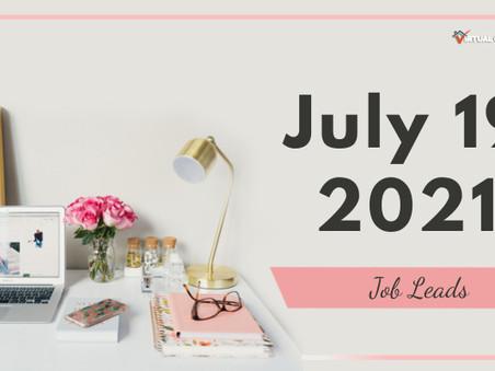 Monday - July 19, 2021