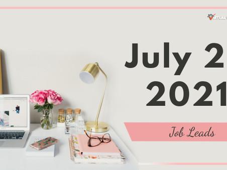 Monday - July 26, 2021