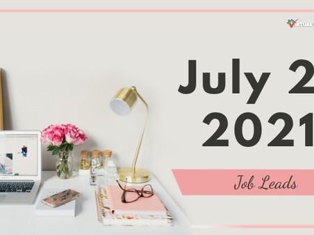 Wednesday - July 21, 2021