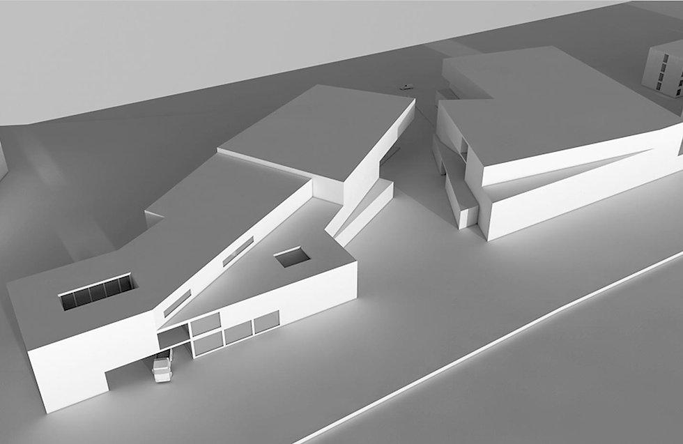 Eine Visualisierung mehrere Gebäude.