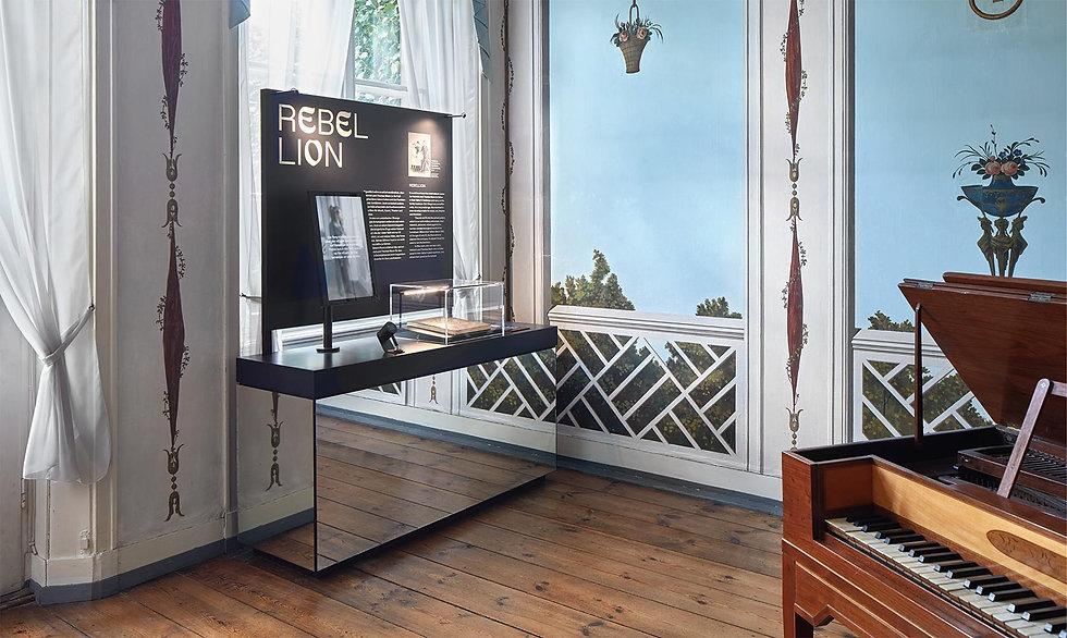 Ein Modul der Ausstellung erzählt was über Rebllion bei den Buddenbrooks