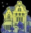 Eine Illustration der Villa vorm Tor aus dem Roman Professor Unrat.