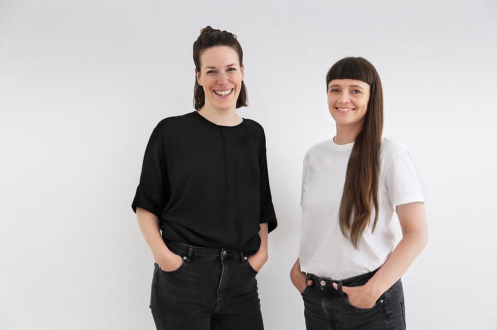 Die zwei Geschäftsführerinnen von drej. Astrid Becker und Anna Bandholz