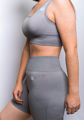 Grey Shorts Set