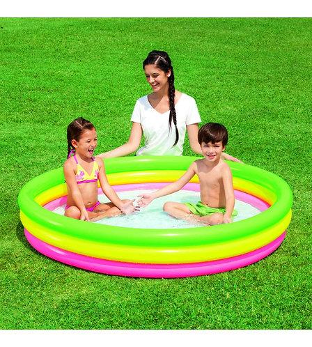 PISCINA BESTWAY SUMMER 3 ANELLI FONDO GONFIABILE B-51103