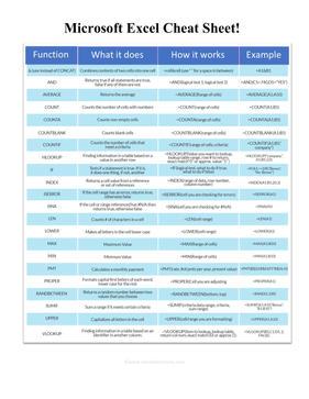 Excel Desk Reference
