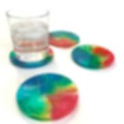 round resin coasters