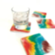 square resin coasters