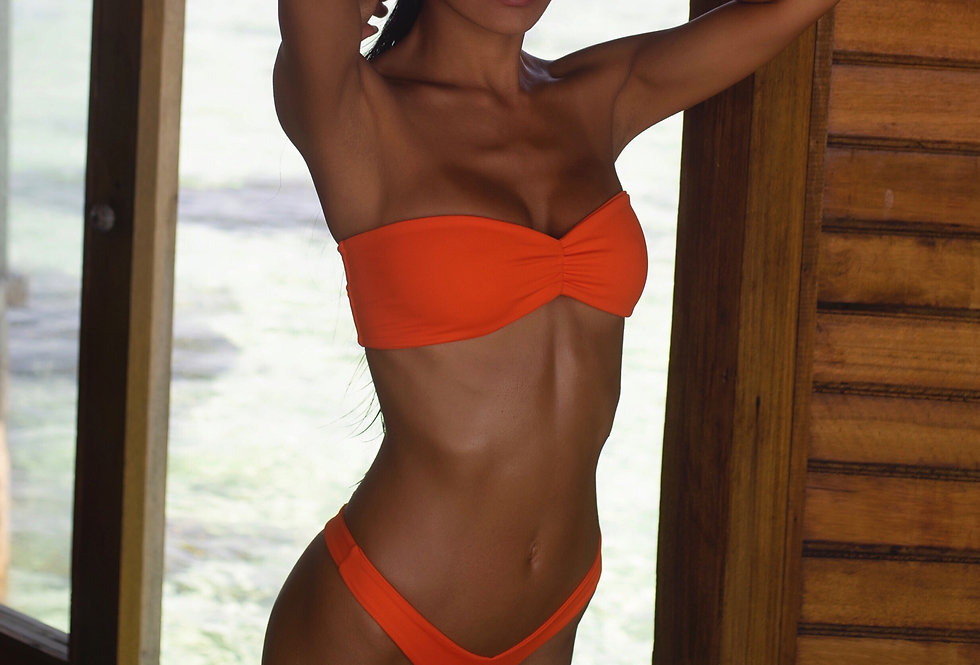 MALIBU BIKINI TOP - ORANGE