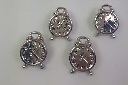 Botão Relógio Prata com 12 unidades
