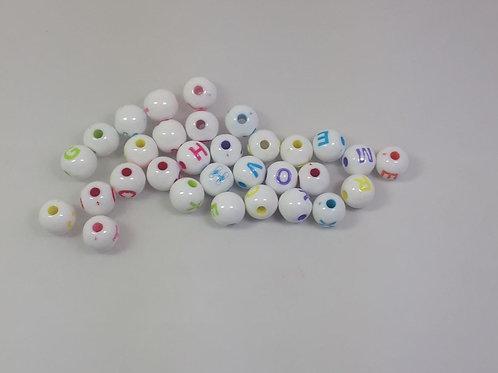 Bolinhas com letra com 50 unidades