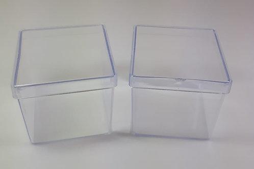 Caixinha de Acrílico - 5 x 5 cm com 10 unidades