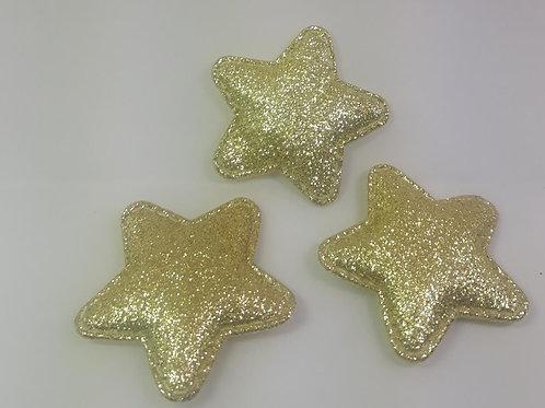 Aplique Estrela com 3 unidades