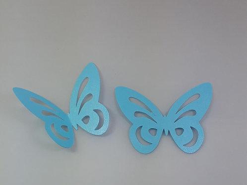 Aplique borboleta de papel de 6 cm com 10 unidades