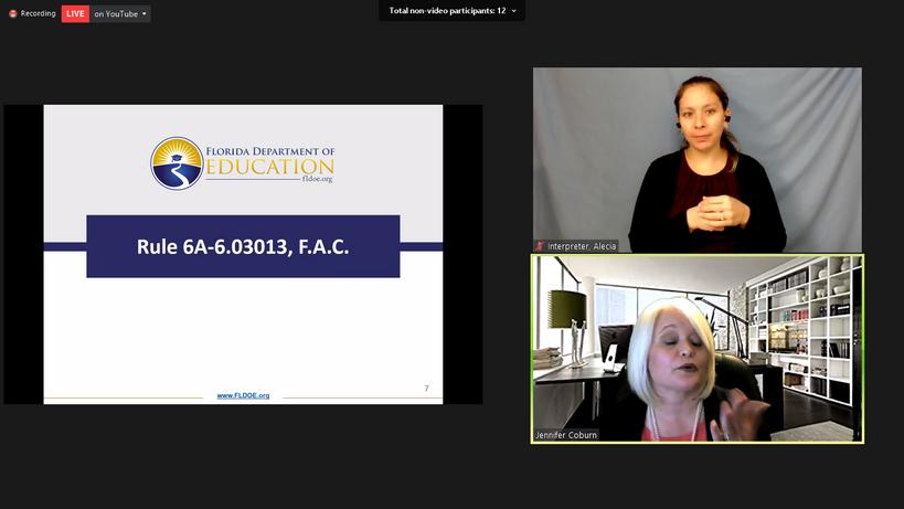 Presentation from Jennifer Coburn, FLDOE