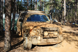 LR3 Shop truck with a little mud