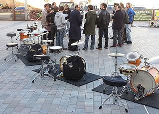 Drumming at Gillett Square, Dalston