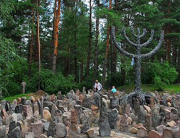 Latvia Rumbala Forest cemetary.jpg