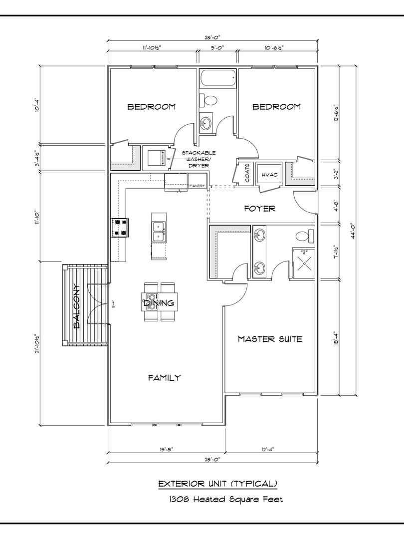 End-unit Floorplan