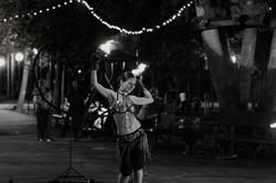 Танец с огненными чашами