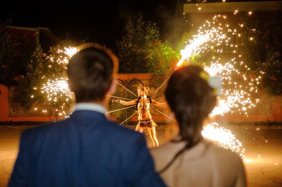 фаер шоу на свадьбу